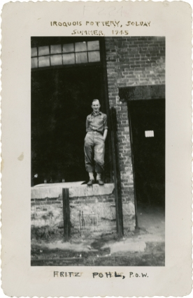 Photo album of Margaret Embree, including images of women factory workers during World War II