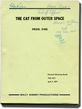 The Cat From Outer Space (Original screenplay for the 1978 film). Norman Tokar, Ted Key, Harry...