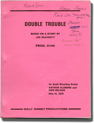The Shaggy D.A. [Double Trouble] (Original screenplay for the 1976 film). Robert Stevenson, Don...