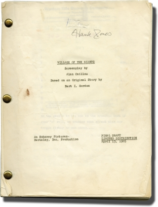 Village of the Giants (Original screenplay for the 1965 film, annotated copy belonging to actor...