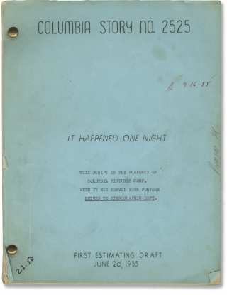 You Can't Run Away From It [It Happened One Night] (Original screenplay for the 1956 film). Dick...