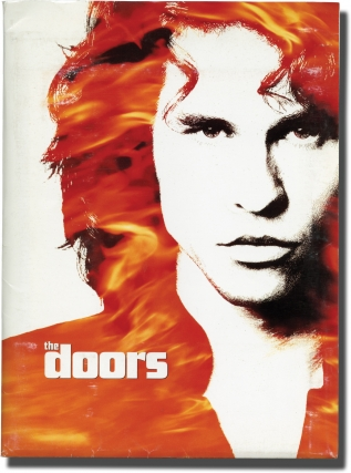 The Doors (Original press kit for the 1991 film). The Doors, Oliver Stone, Randall Jahnson, Meg Ryan Val Kilmer, Kyle MacLachlan, screenwriter director, screenwriter, starring.