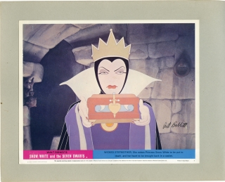 Album of lobby cards and photos from 30 animated films, signed by key animators