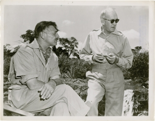 Mogambo (Original photograph of John Ford and Clark Gable on the set of the 1953 film). John...