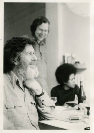 Two original photographs of John Cage in Brussels, 1972. John Cage, Jean Christiaens, subject,...