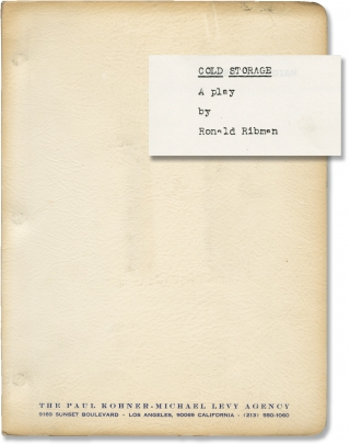 Cold Storage (Original script for the 1977 Broadway play). Frank Corsaro, Ronald Ribman, Len...