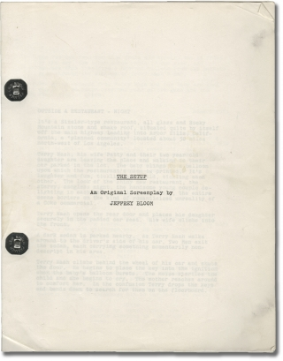 The Setup (Original screenplay for an unproduced film). Jeffrey Bloom, screenwriter