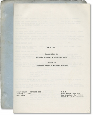 Face Off (Original screenplay for an unproduced film). Michael Buhlman, Jonathan Baker, screenwriter