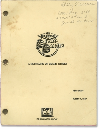 The New Adventures of Beans Baxter: A Nightmare on Beans' Street (Original teleplay script for...