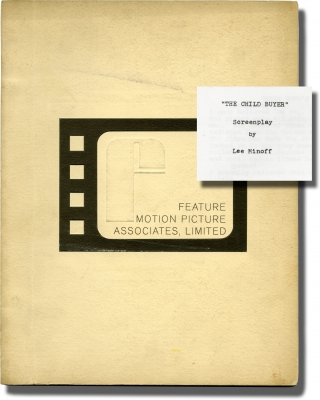 The Child Buyer (Original screenplay for an unproduced film). John Hersey, Lee Minoff, novel,...