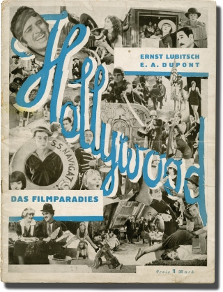 Hollywood: das Filmparadies (Original film pamphlet). Ernst Lubitsch, E A. DuPont