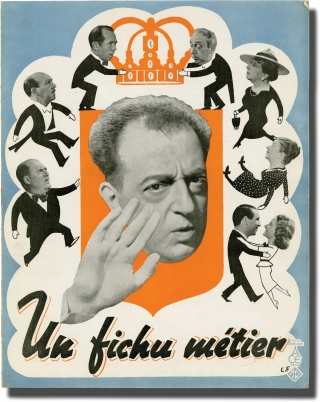 Un fichu metier (Original French film program for the 1938 film). Pierre-Jean Ducis, Jacques...