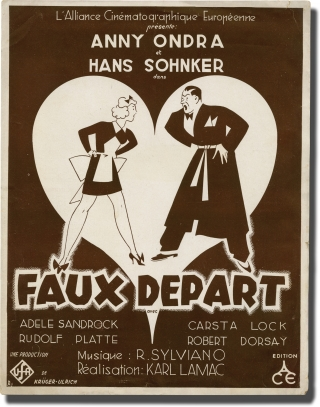 Flitterwochen [Honeymoon] [Faux Depart] (Original French pressbook for the 1936 film). Karl Lamac, Franz Rauch, Else von Steinkeller, Hans Sohnker Anny Ondra, Adele Sandrock, screenwriter director, screenwriter, novel, starring.