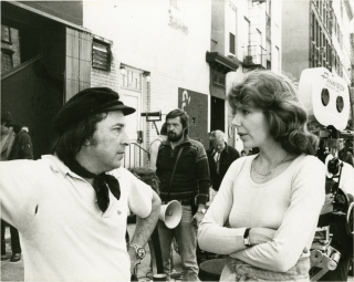 An Unmarried Woman (Original photograph from the set of the 1978 film). Paul Mazursky, Alan Bates...