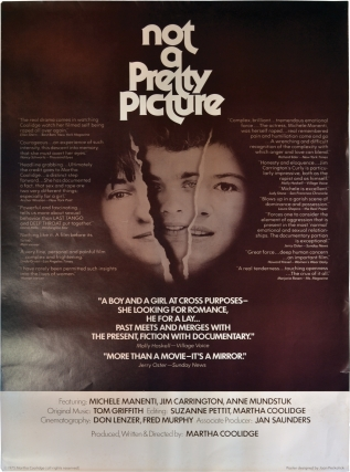 Not a Pretty Picture (Original poster for the 1976 film). Martha Coolidge, Reed Birney Amy Wright, screenwriter director, producer, starring.