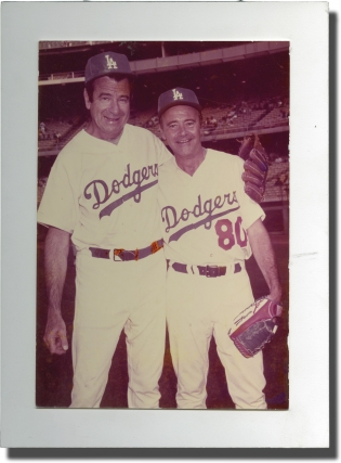 Original photograph of Walter Matthau and Jack Lemmon, circa 1970. Los Angeles Dodgers, Jack...