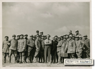 J'accuse [I Accuse] (Original double weight photograph from the set of the 1938 film). Abel...