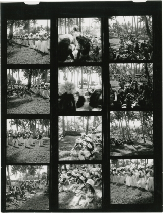 Mutiny on the Bounty (Collection of 6 original contact sheets from the set of the 1962 film)....