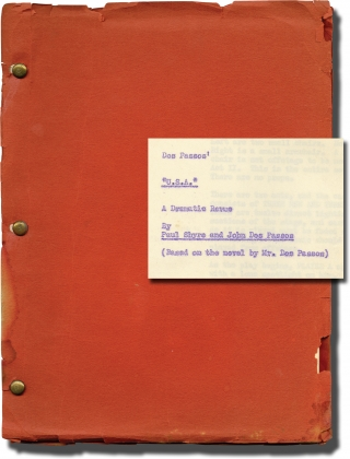 USA: A Dramatic Revue (Original script for the 1959 play). John Dos Passos, Paul Shyre, Peggy...