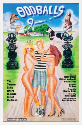 Oddballs (Original one sheet poster for the 1984 Canadian exploitation film). Miklos Lente, Ed...