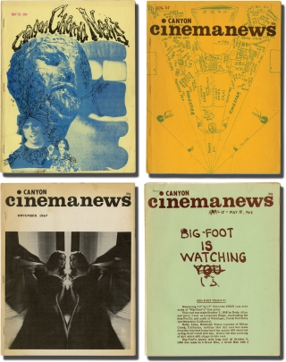 Archive of 66 issues of Canyon Cinemanews, 1966-1980