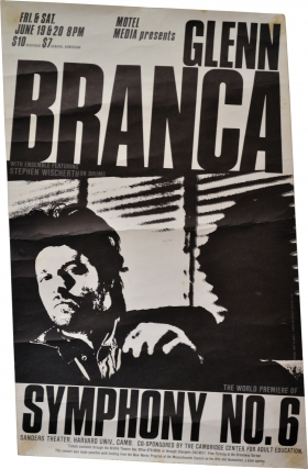 Symphony 6 [Devil Choirs at the Gates of Heaven] (Original poster for the world premiere). Glenn Branca.