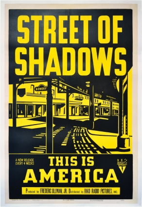 Street of Shadows (Original poster for the 1946 documentary short film). New York City, Larry...