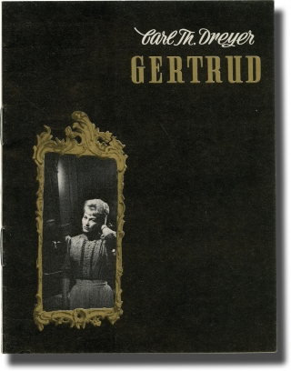 Gertrud (Original program for the 1964 film). Carl Theodore Dreyer, Hjamar Soderberg, Bendt Rothe...