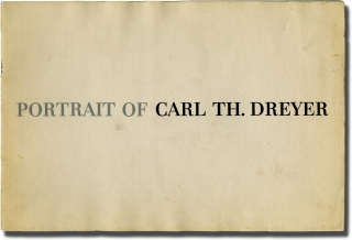 Portrait of Carl Th. Dreyer (Original program). Carl Theodor Dreyer, I B. Monty, essay, sibject.