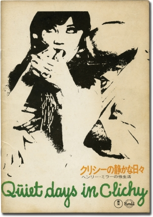 Quiet Days in Clichy (Japanese program for the 1970 film). Henry Miller, Jens Jorgen Thorsen,...