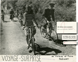 Mystery Tour [Voyage surprise] (Collection of 6 original photographs from the 1947 film). Pierre Prevert, Mireille and Jean Nohain, Maurice Diamant-Berger Jacques Prevert, Claude Accursi, Maurice Baquet, Mireille, Jean Nohain, screenwriter director, operetta, screenwriters, starring.