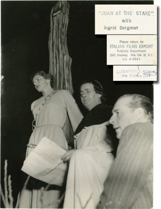 Giovanna d'Arco al rogo (Original photograph from the set of the 1954 film). Roberto Rossellini,...