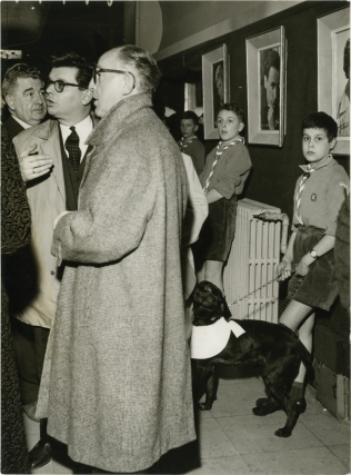 Old Yeller [Le Fidele Vagabond] (Collection of 6 press photographs featuring a dog show at...