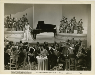 Broadway Rhythm (Original photograph from the 1944 film). Roy Del Ruth, Oscar Hammerstein II Jerome Kern, Dorothy Kingsley, Harry Clork, Ginny Simms George Murphy, Lena Horne, Gloria DeHaven, Charles Winninger, director, screenwriters, starring.