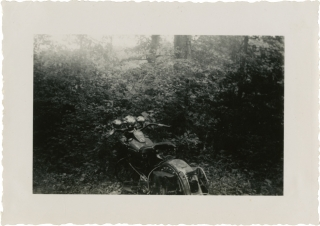 Archive of 67 original photographs of the Jack Pine Endurance Run, circa 1940s. Motorcycle Racing