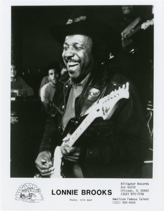 Archive of 7 original photographs of Alligator Records artists, circa 1970s. Alligator Records,...