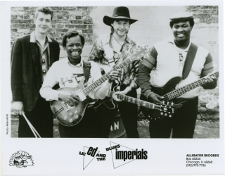 Archive of 7 original photographs of Alligator Records artists, circa 1970s