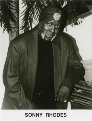 "Collection of 10 original photographs of blues artists, circa 1970. Joe ""Guitar"" Hughes Luther..."
