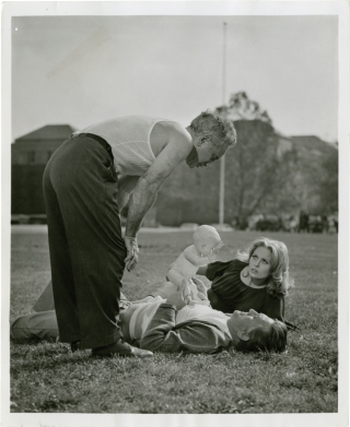The Arrangement (Original photograph from the set of the 1969 film). Elia Kazan, Faye Dunaway...