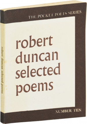 Selected Poems (First Edition, second state). Robert Duncan