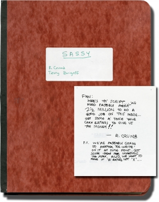 Sassy (Original screenplay for an unproduced film, 1988). Terry Zwigoff, R. Crumb, screenwriters