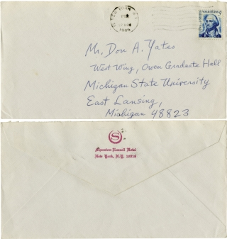 Two autograph letters signed and a Christmas card from Cornell Woolrich