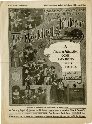 The Wedding of Prudence (Original advertising flyer for the 1914 film). Ruth Hennessy, Leo White...