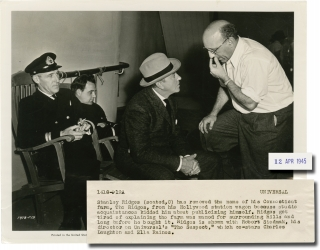 The Suspect (Original photograph from the set of the 1944 film). Robert Siodmak, James Ronald,...