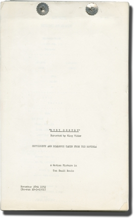 Ruby Gentry (Post-production script for the 1962 re-release of the 1952 film). King Vidor,...