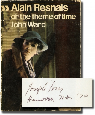 Alain Resnais, or the Theme of Time (First Edition, Joseph Losey's copy). Alain Resnais, John...