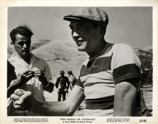 The Red Badge of Courage (Original photograph from the set of the 1951 film). John Huston,...