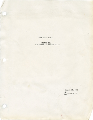 The Delta Force (Original screenplay and archive for the 1986 film). Menahem Golan, James Bruner,...