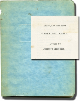 Free and Easy (Original play script for the 1959 musical, copy belonging to producer Stanley...