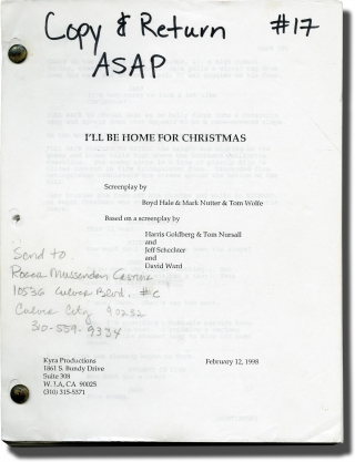 I'll Be Home for Christmas (Original screenplay for the 1998 film). Arlene Sanford, Harris...